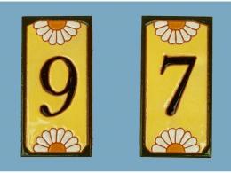 Azulejo de cerámico personalizada número