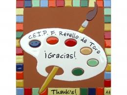 Plaqueta de cerámica de agradecimiento