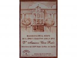 Placa de cerámica de agradecimiento colegio