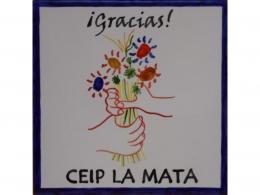 Placa de cerámica de agradecimiento