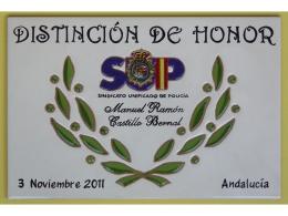 Premio realizado en plaqueta de cerámica concurso
