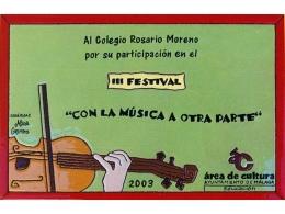 Premio realizado en placa de cerámica festival de música