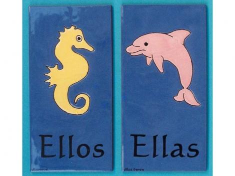 Azulejos de cerámica indicativos para baños marinos