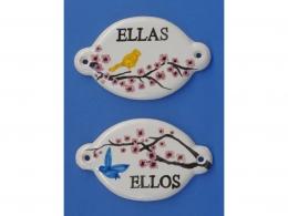 Indicativos de cerámica para baños pintado a mano