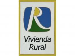 Placa de cerámica con logotipo Vivienda Rural