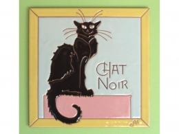 Placa de cerámica con logotipo Chat Noir