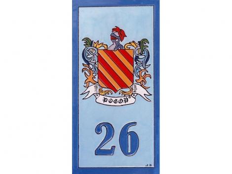 Placa de cerámica con escudo heráldico