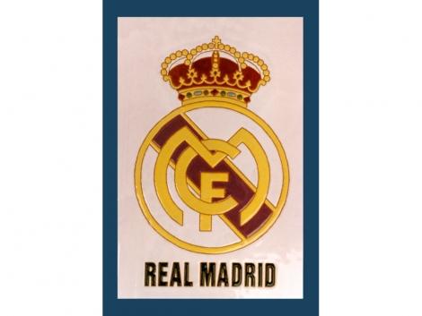 Placa de cerámica con escudo Real Madrid