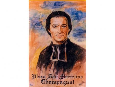 Placa de cerámica religiosa Champagnat