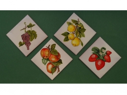 Azulejos de ceramica decorativos frutas cocina