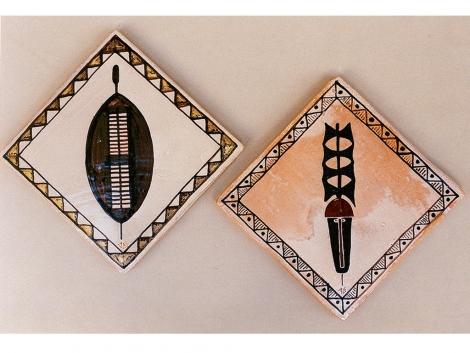 Azulejos rusticos de ceramica decorativos africanos