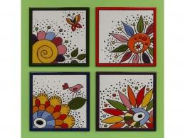 Azulejos de ceramica decorativos flores