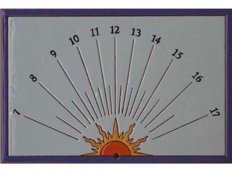 Azulejo de ceramica decorativo Reloj de Sol