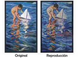 mural,ceramico,mosaico,azulejos,reproducción,sorolla