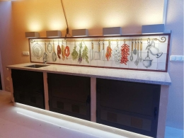 mural,ceramica,azulejo,bodegón,pintado,mano
