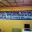 Mural azulejos de cerámica con peces y olas