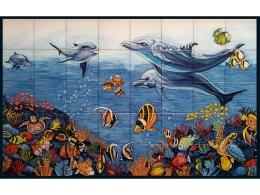 mural,ceramica,azulejo,fondo,defin,tortuga,mar,decorativo,reproduccion,marino,pintadoamano,artesano,muraldeceramica,muralceramico,porencargo,moderno,original,copia,tile,ceramic