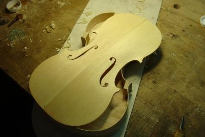 contrucción de violines