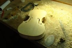 Primeros pasos en la construcción de un violín