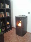Estufa de biomasa Vigo de Ecoforest para calefacción.