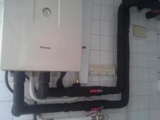 Instalación sistema de aerotermia bi bloc de Panasonic