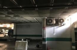 Instalación aire acondicionado Hitachi en Parking en Granada.