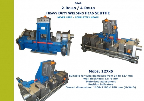 3049 HF WELDER SEUTHE 4-roll welding head for tubes up to 127mm x 6mm