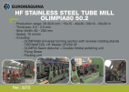 3272 HF Stainless Tube Mill OLIMPIA 80 50.8x2.5