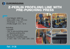 3138 Z-PROFILING LINE WITH PRE-PUNCHING PRESS