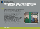 2950 Strapping Machine ORGAPACK CH 1761-RS-C4F