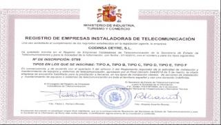 Registro de Empresa Instaladora Tipo F