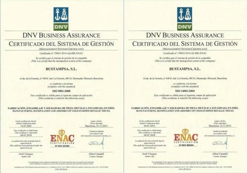 Certificaciones ISO 9001 / 14001 renovadas
