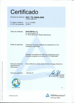 CERTIFICACIÓN ISO /TS 16949