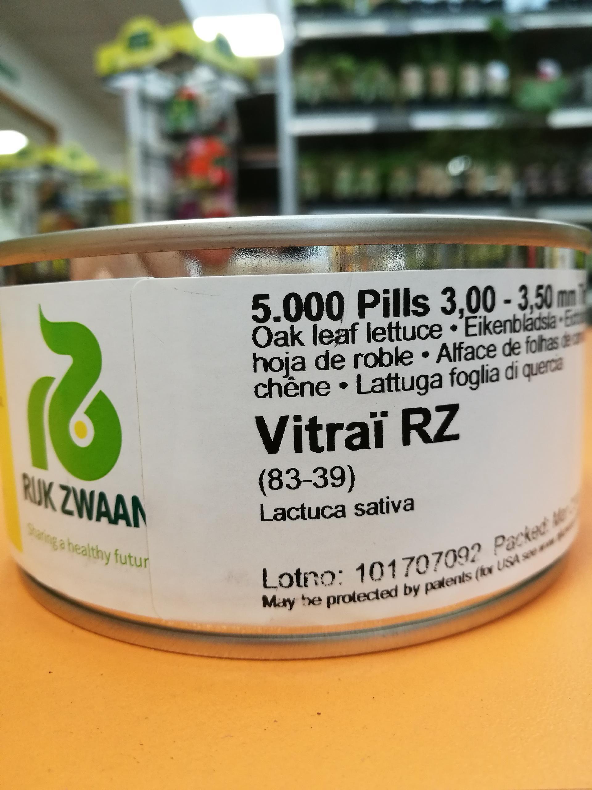 LECHUGA VITRAÏ RZ Precisión Píldorada (5000 Semillas)