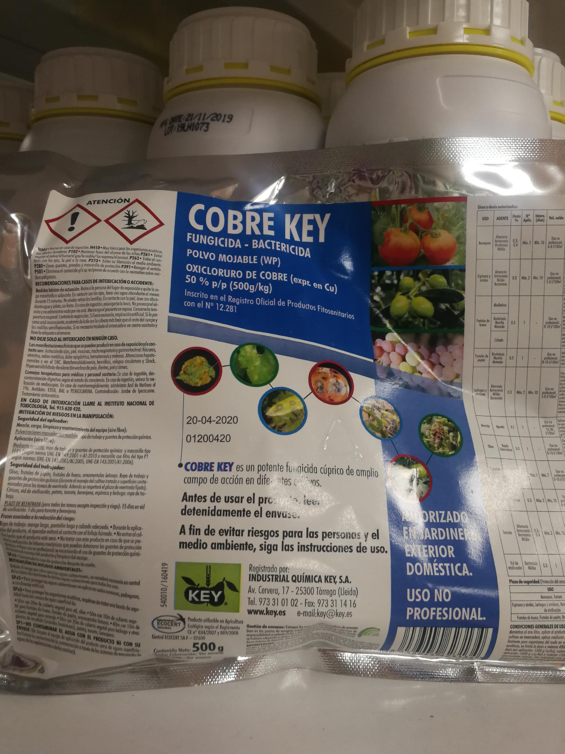 COBRE KEY Sin Colorante Azul (500 gr.). [JED]