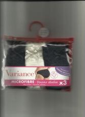 Variance pack-3 braguitas MICROFIBRA