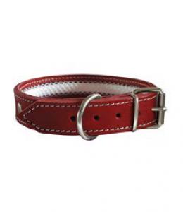 Collar cuero Tuynec rojo 57 cm