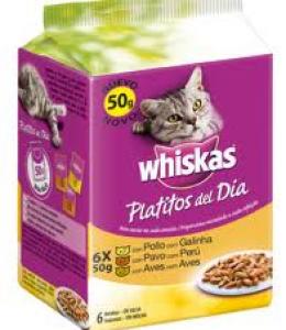 Whiskas Platitos del día Carne Blanca en salsa...