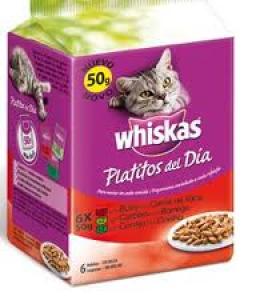 Whiskas Platitos del día Carne roja 6*50 grs