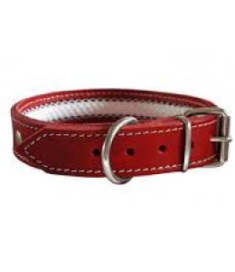 Collar cuero Tuynec rojo 42 cm