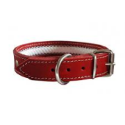 Collar cuero Tuynec rojo 50 cm