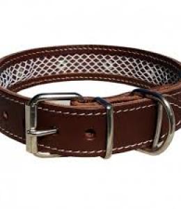 Collar cuero Tuynec marrón 42 cm