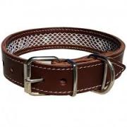 Collar cuero Tuynec marrón 50 cm