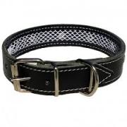 Collar cuero Tuynec negro 42 cm