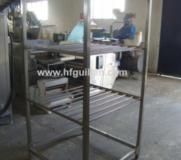 SHELVES FOR COLD MEAT S. STEEL