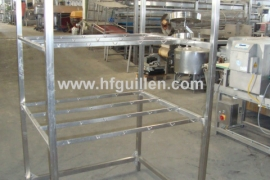SHELVES WITH HOOKS FOR HAMS S. STEEL