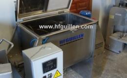 REF-1195 MÉLANGEUR HORIZONTAL POUR SOLIDES-LIQUIDES EN INOX. AISI-316  220 L (NEUF)