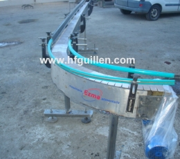 SLAT CURVE CONVEYOR 90 o FOR CANS