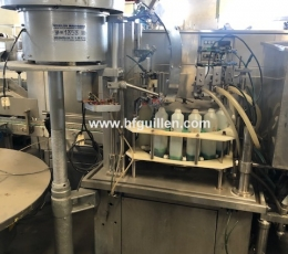 6-HEAD FILLING MACHINE WITH CAPPING SYSTEM