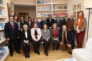 El día de la firma del convenio de la alianza, en la sede de la SEGG, el 21 de enero de 2015
